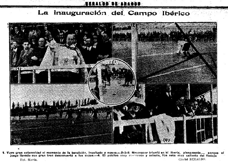 Crónica fotográfica de la inauguración del campo de Torrero.