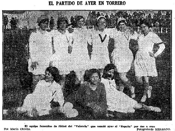 El equipo del Valencia femenino, en Torrero.