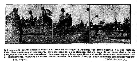 Algunas intervenciones de Zamora en su partido de avispa.