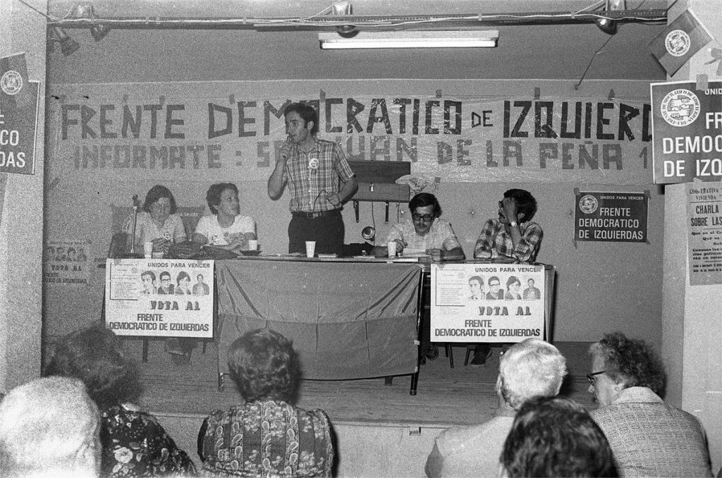 Mitin en Zaragoza del Frente Democrático de Izquierdas poco antes de las elecciones generales de 1977 | Archivo HERALDO DE ARAGÓN
