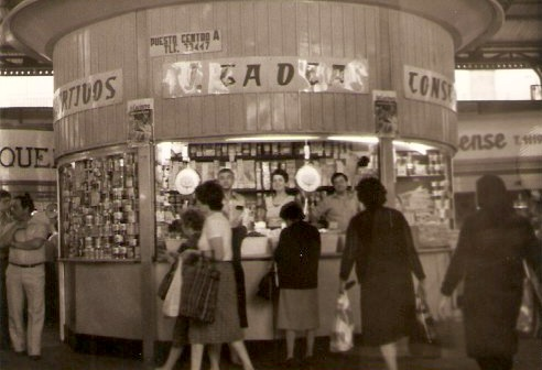 El primer puesto de la familia Gadea en el Mercado Central