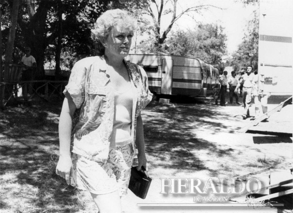 Rodaje Película 003 12.07.1988 Rue MacLlanahan Foto de Carlos Moncín - Heraldo de Aragón