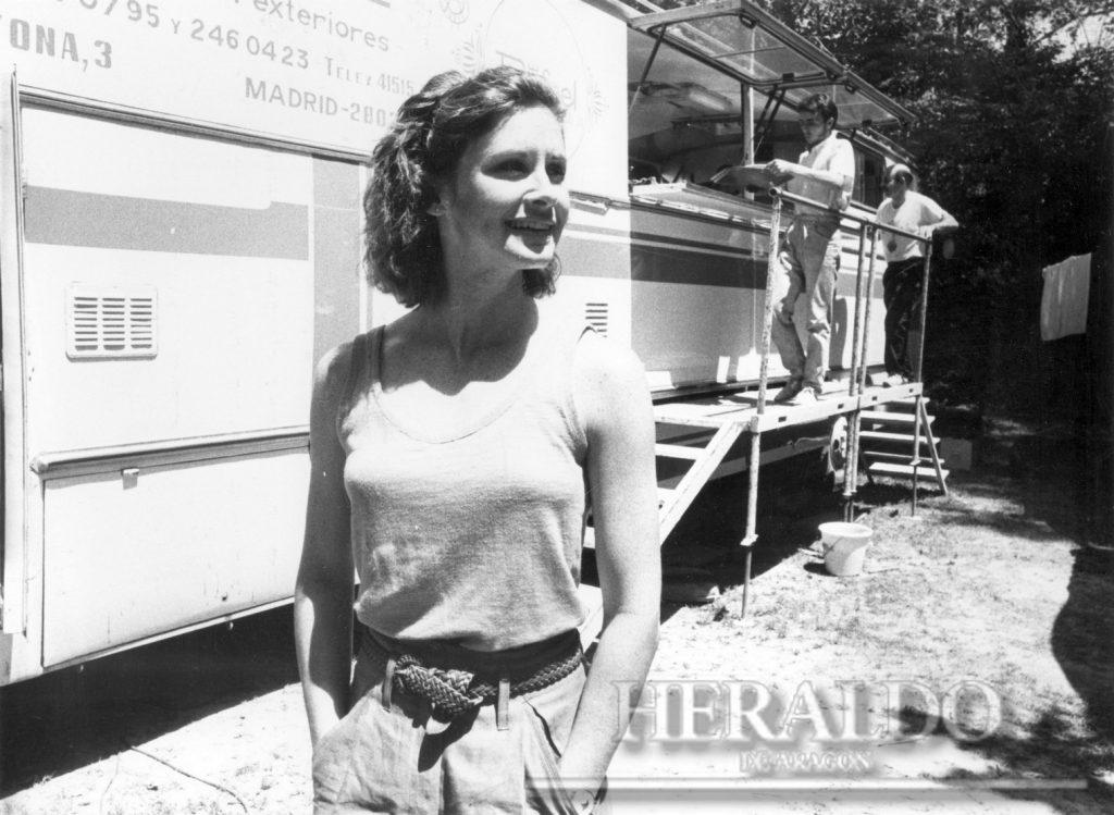 Rodaje película 002 12.07.1988 Estefani Zimbalist Foto de Carlos Moncín - Heraldo de Aragón