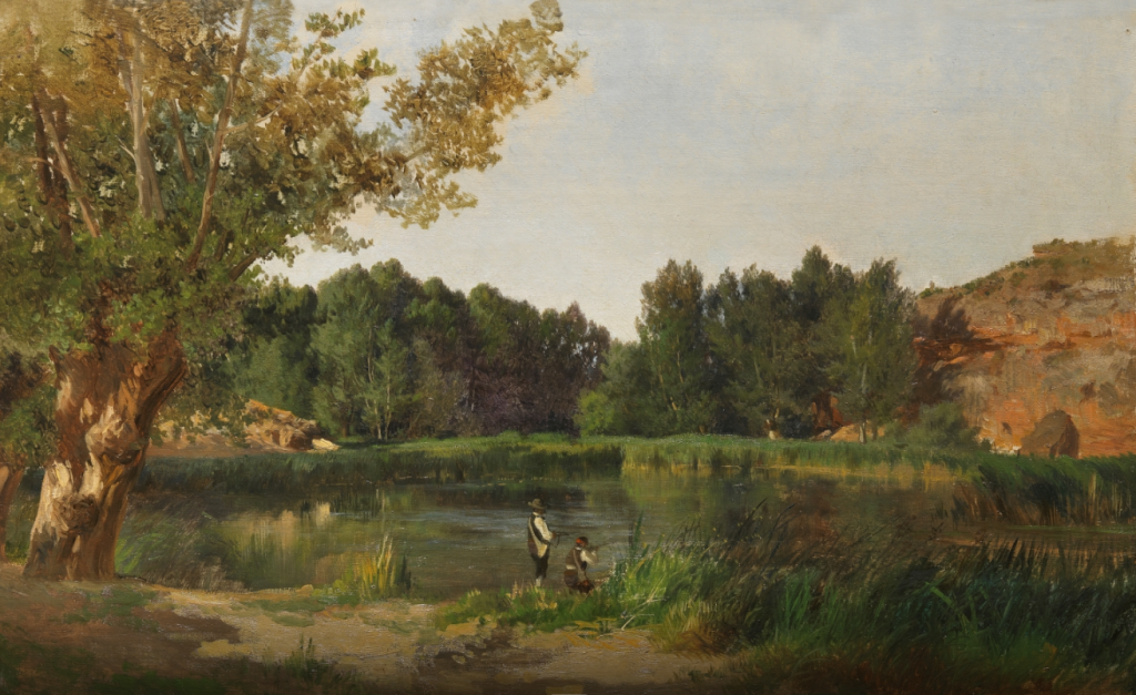 Lagunas (Piedra) Óleo sobre lienzo pegado a lienzo. Hacia 1872 HAES, CARLOS DE