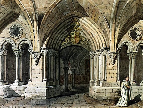 Resultado de imagen de calefactorio monasterio piedra
